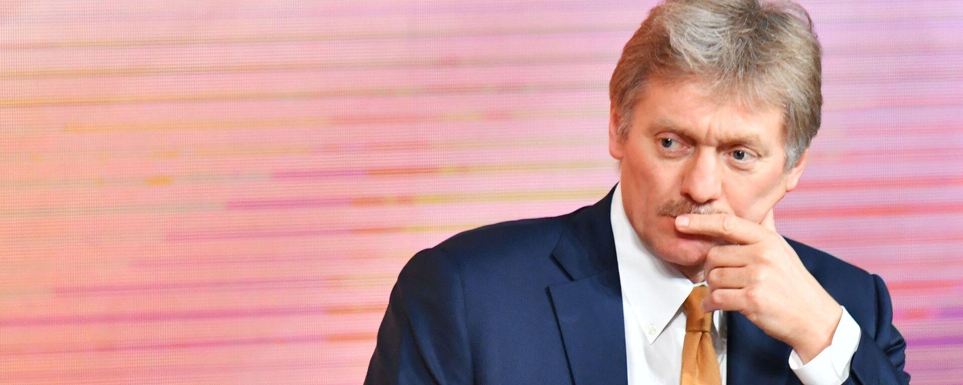 Tiskový mluvčí ruského prezidenta Dmitrij Peskov  během konference - Sputnik Česká republika, 1920, 15.07.2021
