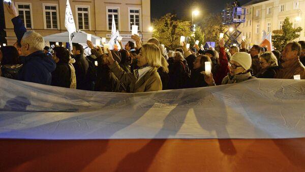 Protestní akce ve Varšavě - Sputnik Česká republika