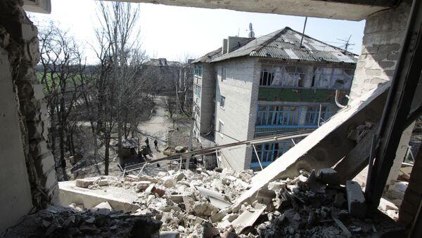 Osada Doněck-Severní nedaleko fronty v Doněcké oblasti - Sputnik Česká republika