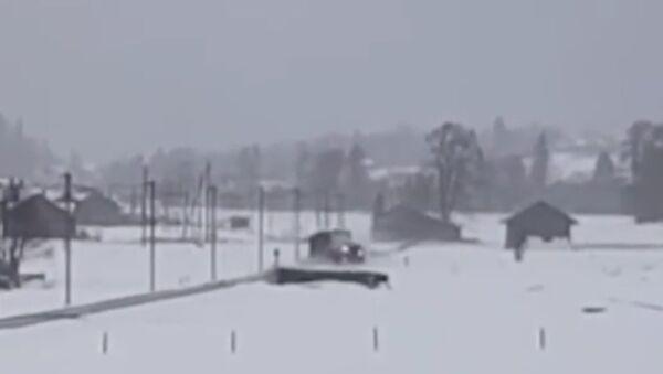 Ve Švýcarsku vítr porazil vlak. Video - Sputnik Česká republika