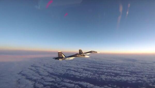 VLS USA zveřejnily video doprovodu ruských Su-30 na Baltu - Sputnik Česká republika