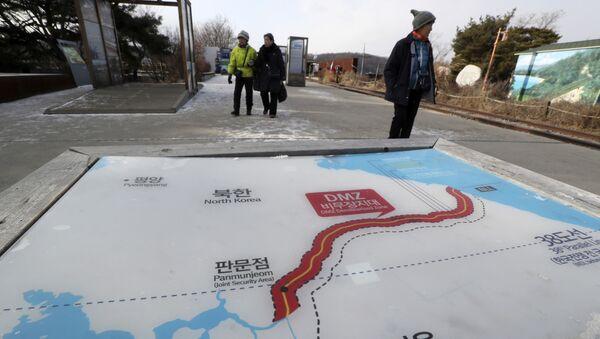 Mapa Severní a Jižní Korey - Sputnik Česká republika