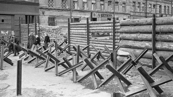 Barikády v Leningradu - Sputnik Česká republika
