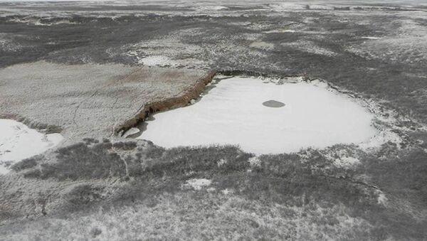 Jezero na místě gigantického kráteru - Sputnik Česká republika