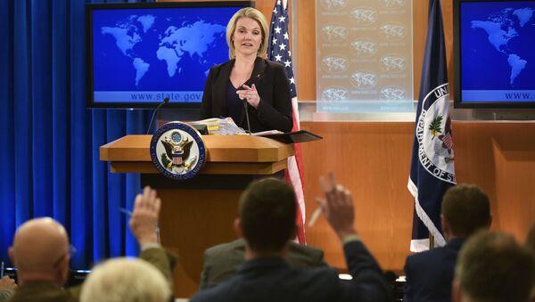 Oficiální mluvčí MZV USA Heather Nauertová - Sputnik Česká republika