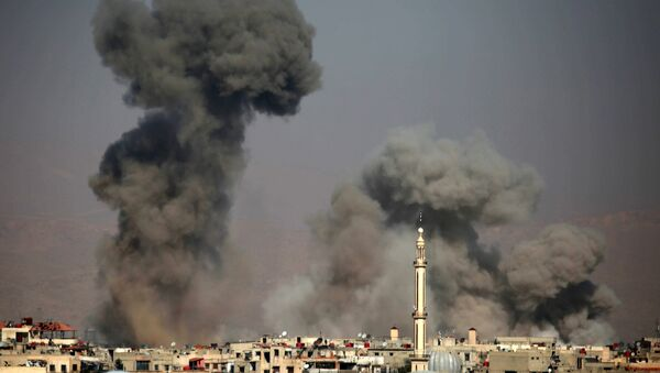 Po leteckém útoku v Sýrii - Sputnik Česká republika