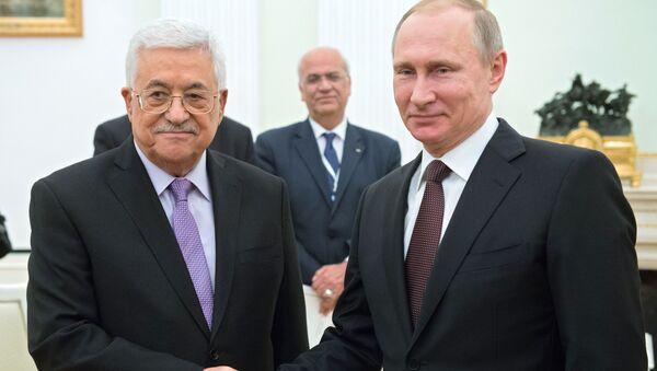 Vladimir Putin s Mahmúdem Abbásem - Sputnik Česká republika
