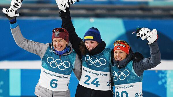 Medailistky z individuálního závodu - Sputnik Česká republika