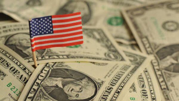 Americká vlajka mezi dolary - Sputnik Česká republika