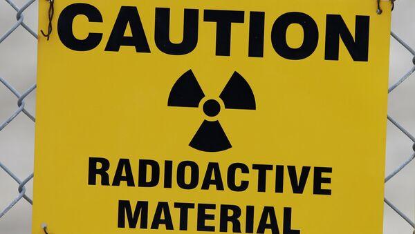 Varovná cedule radioaktivního nebezpečí - Sputnik Česká republika