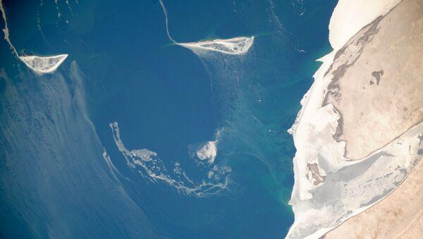 Pohled na Aralské moře z vesmíru - Sputnik Česká republika