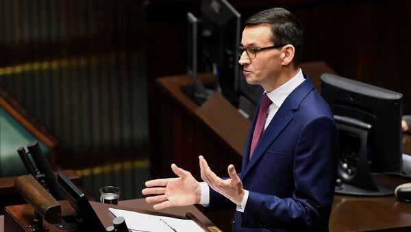 Polský premiér Mateusz Morawecki - Sputnik Česká republika