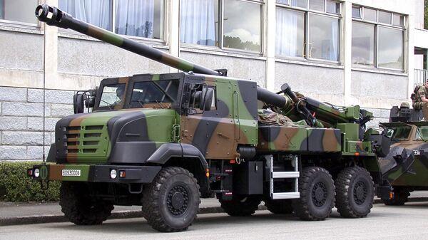 155-мм самоходная артиллерийская установка CAESAR - Sputnik Česká republika