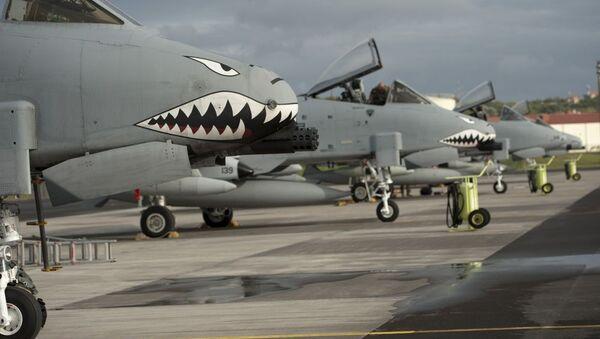 Americká letadla A-10 II Thunderbolt na základně Lajes do Pico v Portugalsku - Sputnik Česká republika