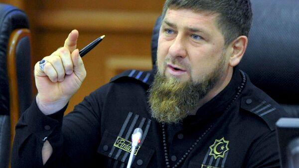 Hlava Čečenské republiky Ramzan Kadyrov - Sputnik Česká republika