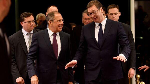 Alexandr Vučič a Sergej Lavrov, ilustrační foto - Sputnik Česká republika
