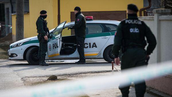 Policie na místě vraždy novináře - Sputnik Česká republika