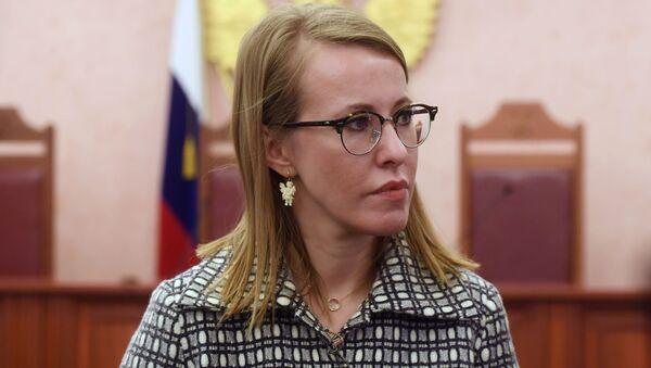 Kandidátka na post prezidenta Xénie Sobčaková - Sputnik Česká republika