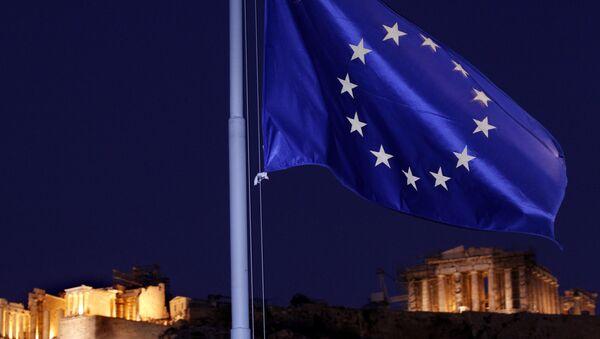 Vlajka EU v Athénách - Sputnik Česká republika