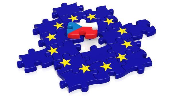 Česká vlajka v EU. Ilustrační foto - Sputnik Česká republika