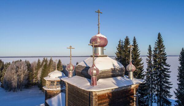 Útočiště pro oči a duši: záběry z karelského kláštera - Sputnik Česká republika