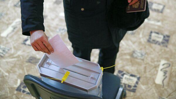 Předčasné hlasování ve volbách prezidenta v Rusku - Sputnik Česká republika