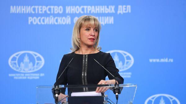 Oficiální tisková mluvčí Ministerstva zahraničních věcí Ruska Maria Zacharovová - Sputnik Česká republika