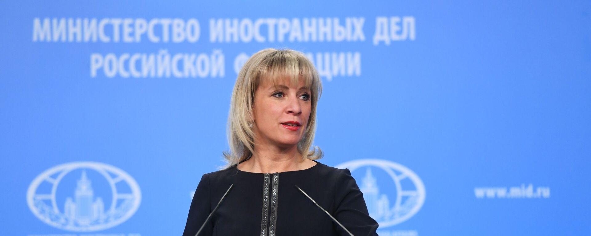 Oficiální tisková mluvčí Ministerstva zahraničních věcí Ruska Maria Zacharovová - Sputnik Česká republika, 1920, 01.09.2021