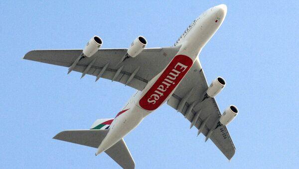 Letadlo Airbus A380 letecké společnosti Emirates - Sputnik Česká republika