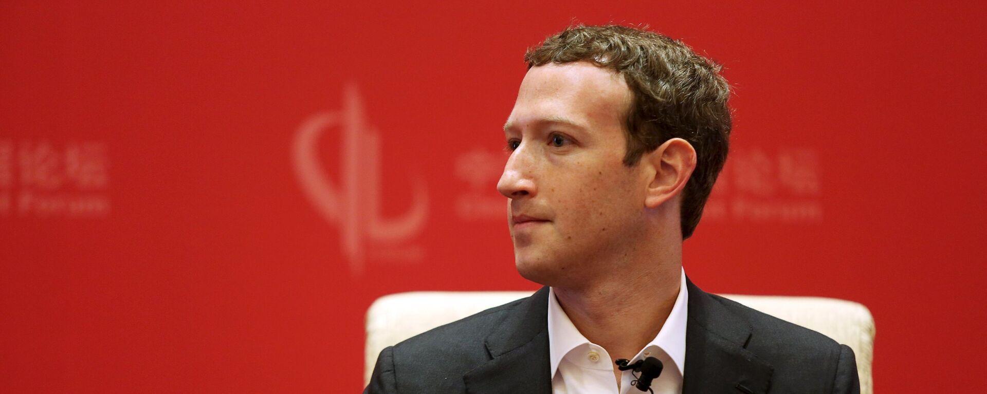 Mark Zuckerberg - Sputnik Česká republika, 1920, 10.04.2021