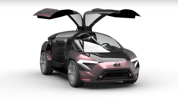 Designérka představila koncept budoucího automobilu LADA Triangle-X 2025 - Sputnik Česká republika