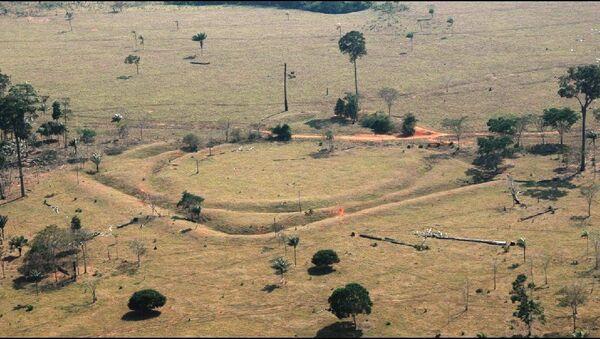 Zbytky osad, které archeologové našli v Amazonii - Sputnik Česká republika