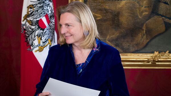 Rakouská ministryně zahraničí Karin Kneisslová - Sputnik Česká republika
