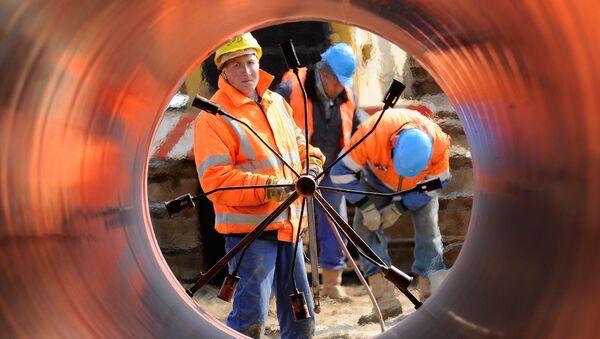 Budování plynovodu v Německu - Sputnik Česká republika