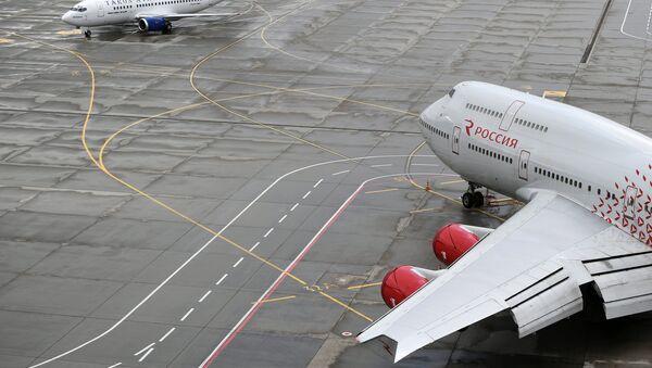 Letadlo společnosti Rossija - Sputnik Česká republika