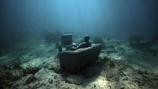 """Překrásní """"utopenci"""": Záhadný park ze soch na mořském dnu - Sputnik Česká republika"""