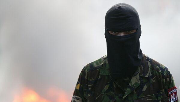 Aktivist Pravého sektoru v Kyjevě - Sputnik Česká republika