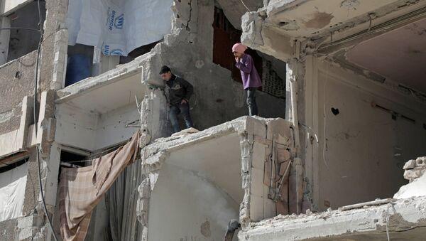 Syrské děti v Dúmě - Sputnik Česká republika