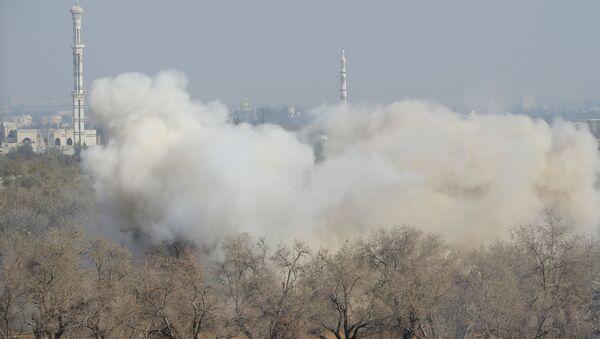 Útok na pozice teroristů v Dúmě - Sputnik Česká republika