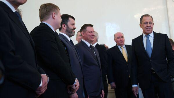 Schůzka ministra zahraničí RF Sergeje Lavrova s ruskými diplomaty - Sputnik Česká republika