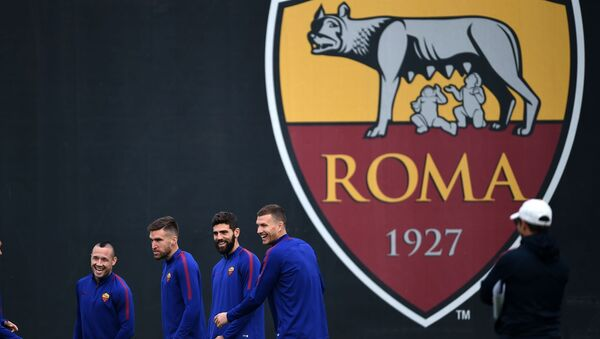 Logo fotbalového klubu Roma - Sputnik Česká republika