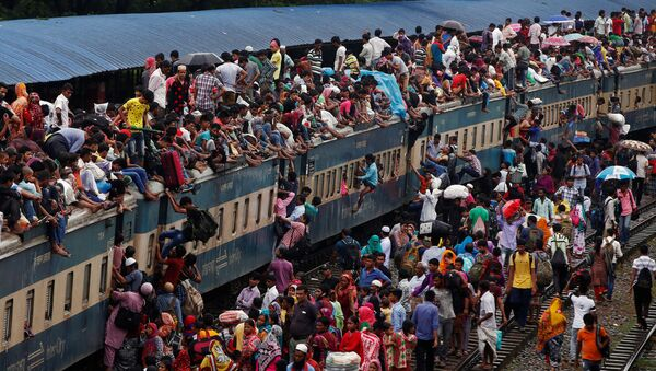 Vlak v Bangladéši. Ilustrační snímek - Sputnik Česká republika