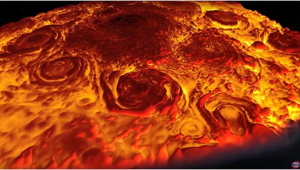 Sonda Juno pořídila jedinečné záběry obrovských Jupiterových cyklónů - Sputnik Česká republika