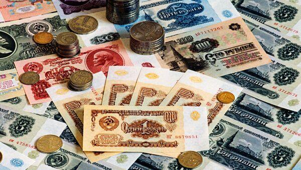 Sovětské bankovky. Ilustrační foto - Sputnik Česká republika
