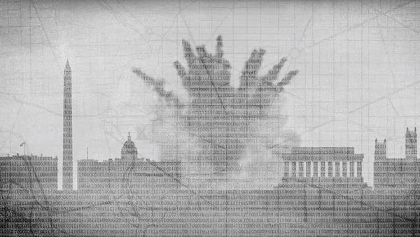 Vědci z Polytechnické univerzity ve Virginii představili model výbuchu atomové bomby v centru Washingtonu - Sputnik Česká republika
