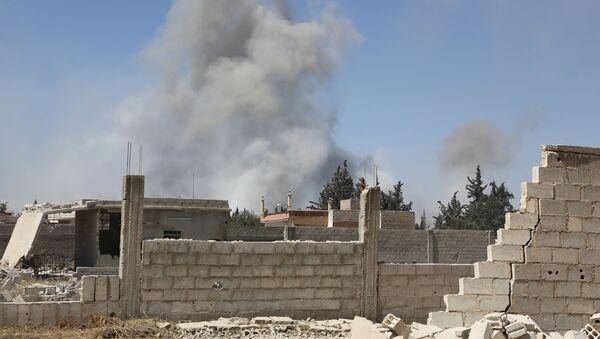 Kouř v syrské Dúmě - Sputnik Česká republika