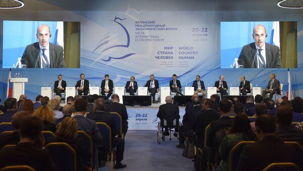 Účastníci jaltského mezinárodního ekonomického fóra - Sputnik Česká republika