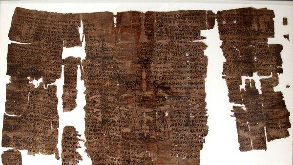 Egyptský papyrus ze 6. století objevený v roce 1934 poblíž pyramidy faraóna Senusreta - Sputnik Česká republika