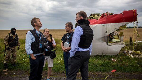 Misto havárie Boeingu 777 - Sputnik Česká republika
