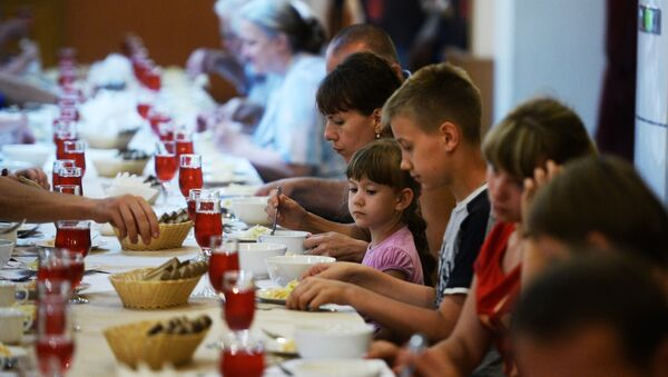 Ukrajinští běženci ve Velkém Novgorodu - Sputnik Česká republika